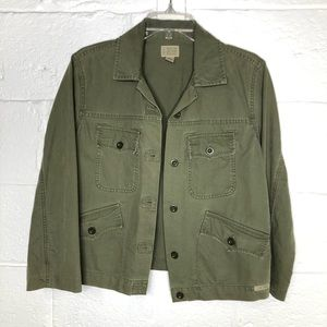 Lucky Brand Olive Green Utility Military Jacket